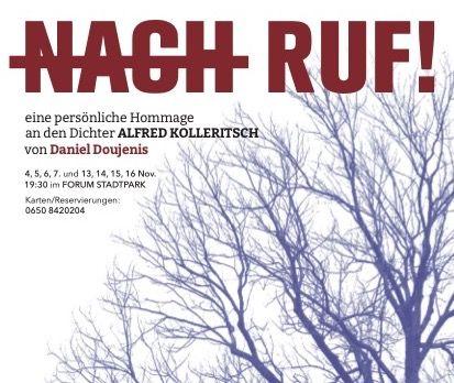 ALFRED KOLLERITSCH: NACH-RUF !